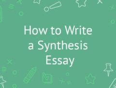 How to write synthesis and analysis